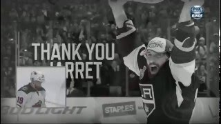 L.A. Kings pay tribute to Jarret Stoll