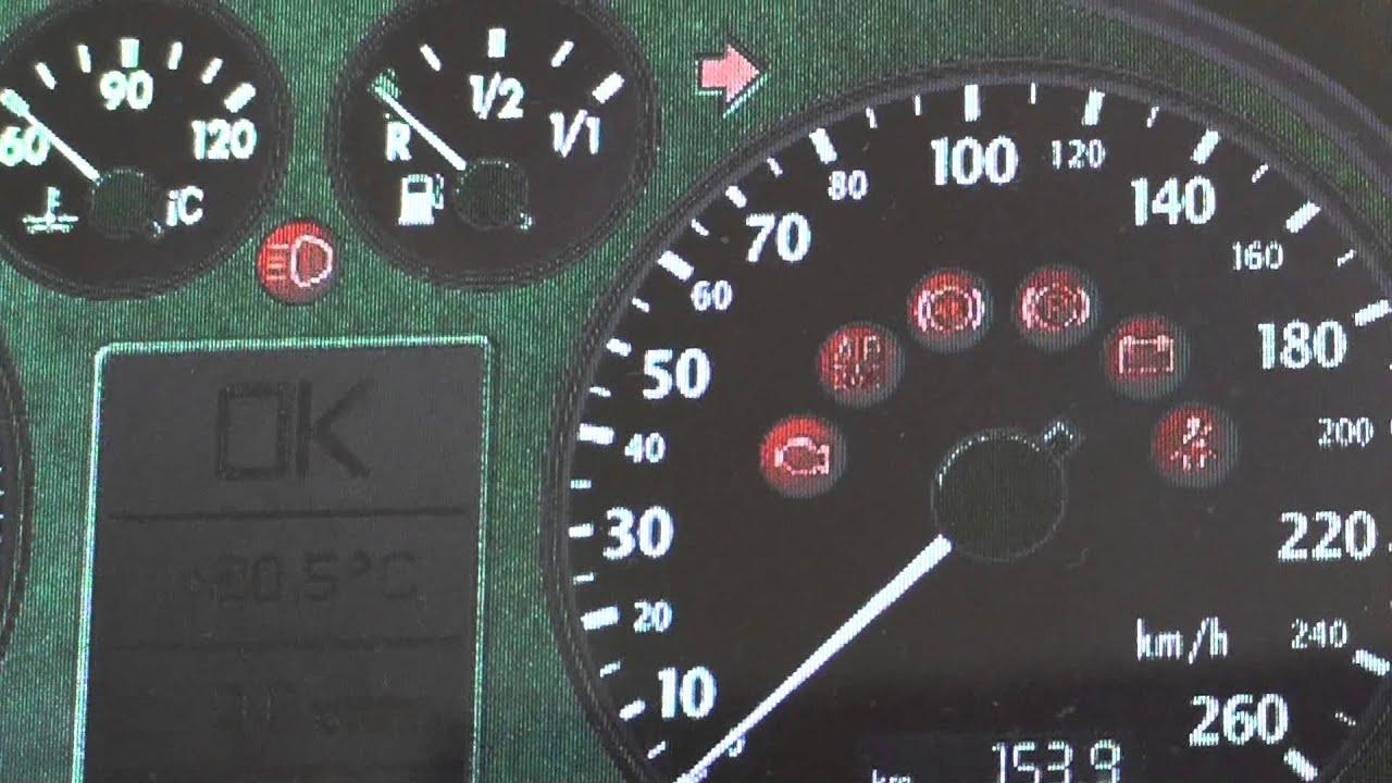 Audi a4 b6 Dashboard Symbols Audi a4 b6 Dashboard Warning