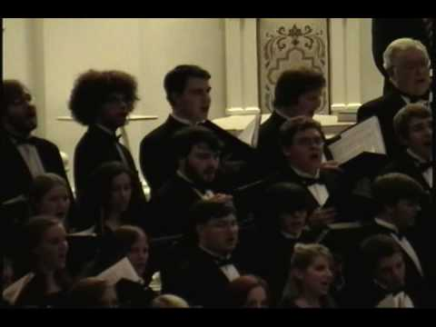 "The Moravian College Choir performs ""Hosana"" at the 2009 Moravian Music Concert at Moravian College."