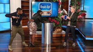 Usher and Octavia Spencer Demonstrate Some Bad Behavior