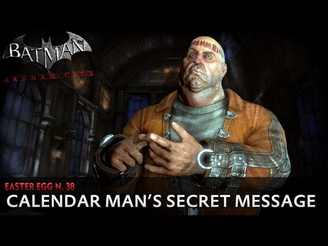 Batman: Arkham City New Easter Egg - Calendar Man's Secret Message