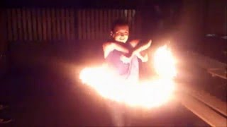 Fire show improvisation