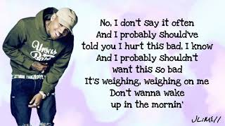 Chris Brown - Undecided (Lyrics)