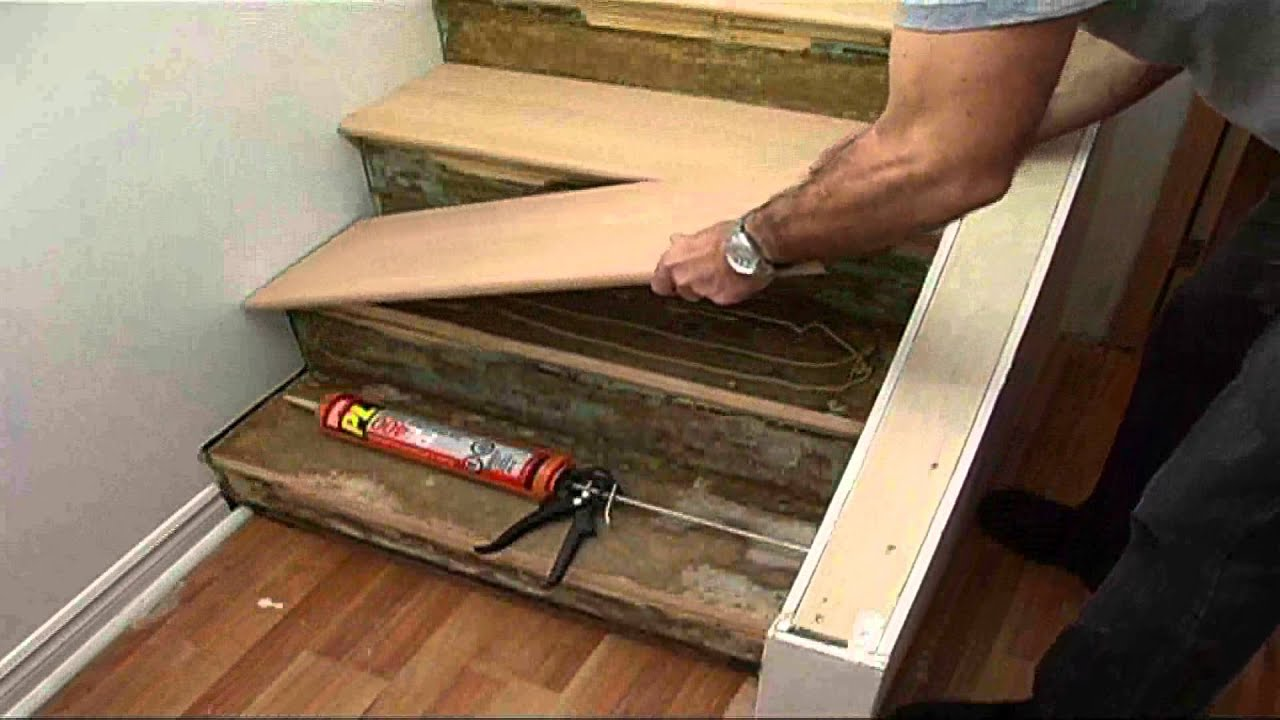 Stairs repairs youtube for Pose plinthe carrelage castorama
