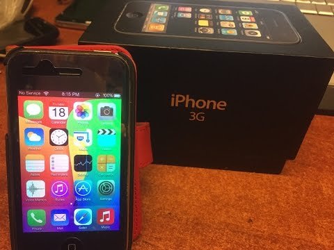 iPHONE 3G on the IOS 7 (8) ROM - review and look around after install - 2015