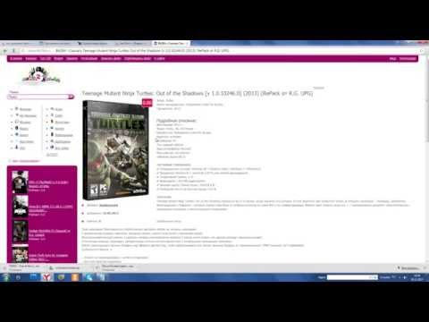 TMNT 2007 игра скачать торрент на компьютер