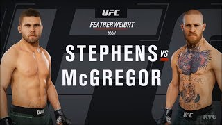 EA Sports UFC 3 - Jeremy Stephens vs Conor McGregor - Gameplay (HD) [1080p60FPS]