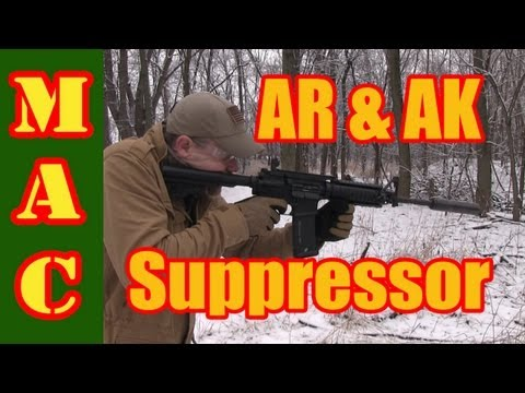 Affordable suppressor for both the AR and AK