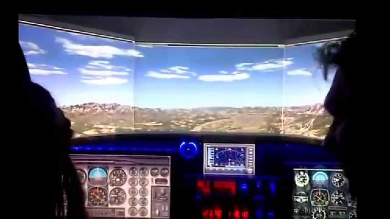 simulateur de vol cockpit cessna initiation au vol. Black Bedroom Furniture Sets. Home Design Ideas