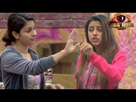 Bigg Boss 7 Tanisha HITS Pratyusha in Bigg Boss 7 7th November 2013 Day 53 FULL EPISODE