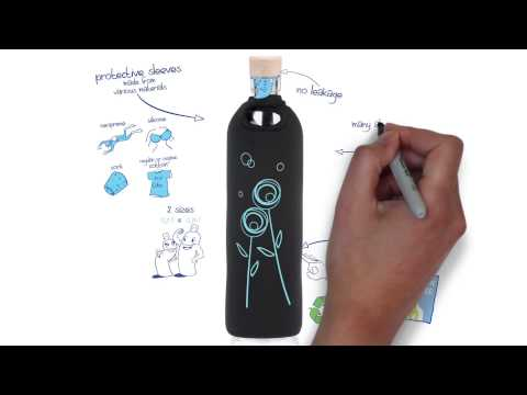 Meet Flaska! The programmed glass water bottle