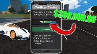 NEW 2018 ROBLOX VEHICLE SIMULATOR CODES  *$300,000.00* 2.23 MB