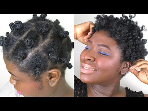 Bantu Knot Out On Natural Hair Featuring Entwine Couture