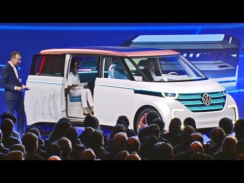 Volkswagen BUDD-e Concept World Premiere at CES 2016