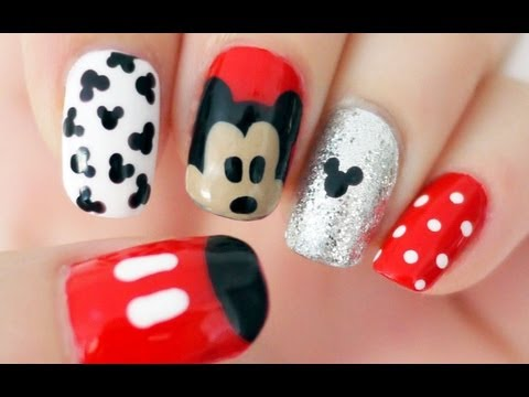 Disney Mickey Mouse Inspired Nails