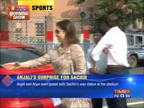 Anjali Tendulkar's surprise for Sachin Tendulkar