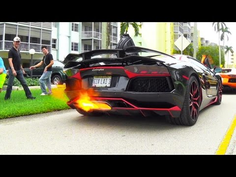 BEST of Supercar SOUNDS Accelerations RACING Revs Aventador FLAMES Supercars in Crazy Action