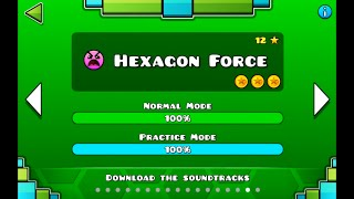 """Geometry Dash"" level 16 - Hexagon Force (100%)"