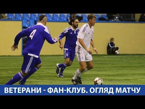 Ветерани ФК Динамо - Фан-клуб ФК Динамо 3:2. ОГЛЯД МАТЧУ