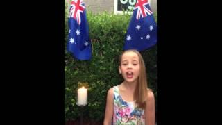 Jacinta says G'day Australia by Caroline Ashworth