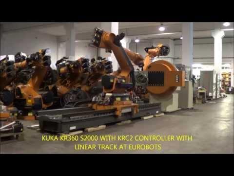 KUKA KR360 ON LINEAR TRACK KL 1500- Heavy Payload robot