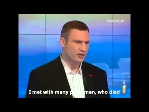 Ukraine. Brainwork of Vitali Klitschko.