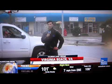 Hurricane Irene TV Reporting FAIL