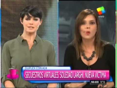 Otra víctima del secuestro virtual: Soledad Larghi, periodista de América TV