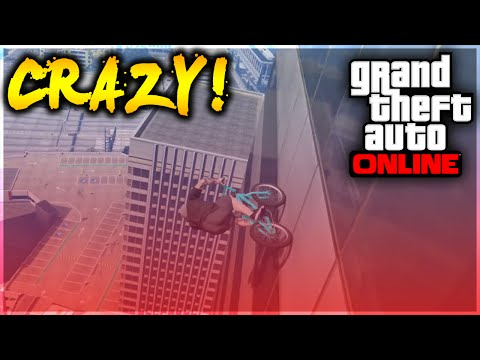 GTA 5 Stunts - OMFG! Crazy BMX Wallride to Building Stunt! (GTA 5 Stunt Challenge)
