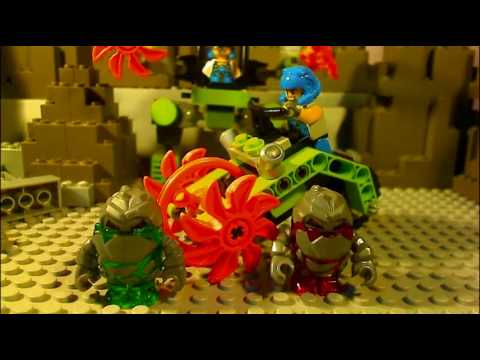 Lego Power miners movie Featuring Granite grinder and Mine Mech