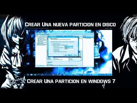 Como Crear Una nueva particion del disco duro en Windows 7
