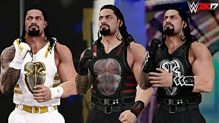 WWE 2K17 - Top 10 Roman Reigns Attires!
