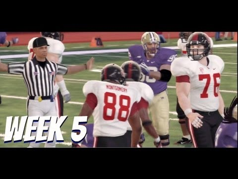 NCAA Football 13 - Pac 12 Online Dynasty: Week 5: #17 Washington vs #21 Stanford