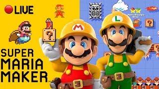 ⭐️Super Maria Maker⭐️ - 100 Mario Expert & Viewer Levels - Live Stream - #40