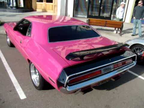 1970 Dodge Challenger Muscle Car - Panther Pink Video 1 - La Jolla Ca Video