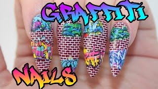 HOW TO: Graffiti Acrylic Nails Tutorial