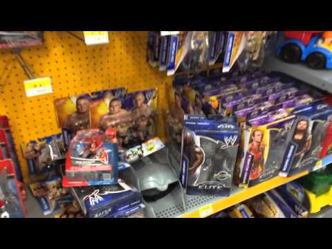 WWE ACTION INSIDER: Target wrestling figure sale, Walmart store aisle figures hunt