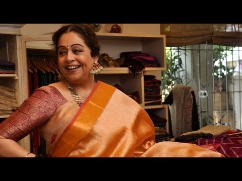 Kirron Kher Goes Saree Shopping For