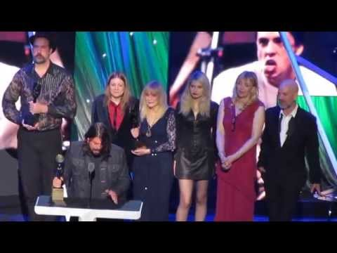 Nirvana's Rock&Roll Hall of Fame Complete Induction Speech Barclays Center Brooklyn 4-10-14