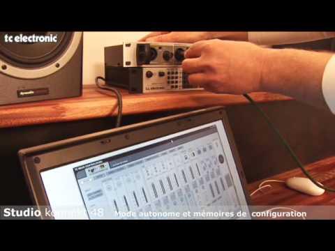interface audio Studio Konnekt 48 de TC Electronic : connexions à la console de mixage