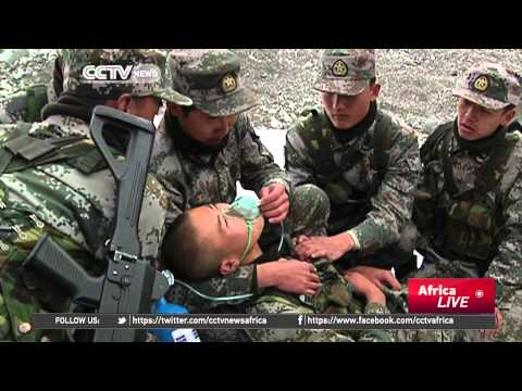Chinese Soldiers Vow To Keep Terrorists Out