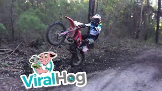 Dirt Bike Wheelie Around the Gumtree || ViralHog