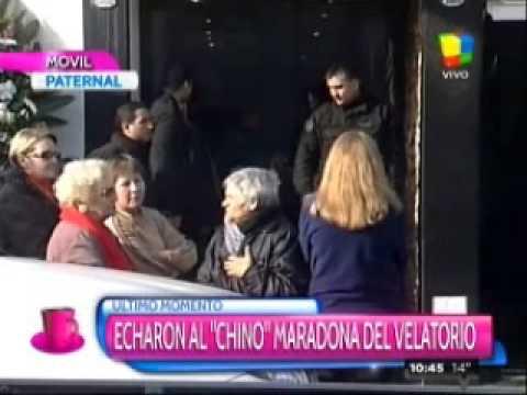 Tensión en el velorio de Don Diego: echaron al Chino Maradona