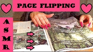 ASMR - PAGE TURNING /FLIPPING - RELAXING SOUND + LONG NATURAL NAILS