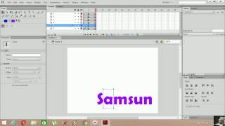 Flash Cs6 AS 3.0 Yazı Animasyonu 2 (Frame By Frame)