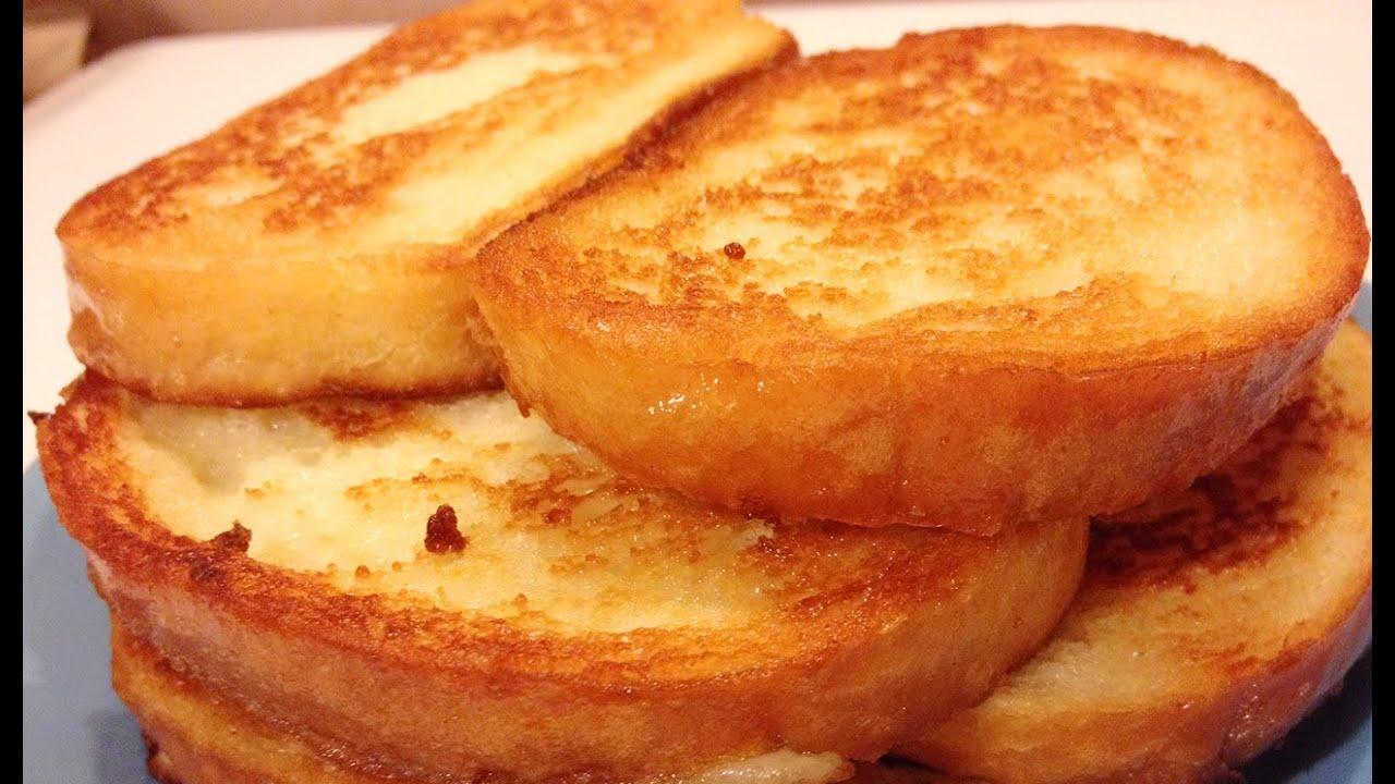 Как сделать гренки из хлеба с сахаром и молоком