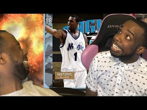 DIAMOND TRACY McGrady DEBUT! THE LAZY EYE! NBA 2k16 MyTeam Gameplay