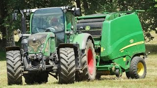 Fendt 716 + John Deere 990 | High Speed Baling