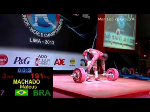 2013 Junior World Weightlifting 105 kg C+Jerk
