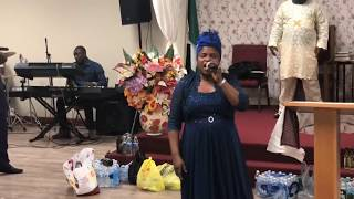 "Bisi Alawiye Aluko  Ministering in song ""Ma Je N're Danu""  Live in Philadelphia"